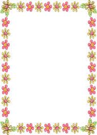 Flower Border Designs For Paper Simple Flower Border Designs For A4 Paper Free Template For You