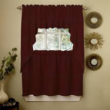 Red Plaid Kitchen Curtains Red Kitchen Curtains Tiers And Valances