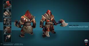 alex nguyen 3d artist dota 2 red talon beastmaster set