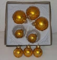Details Zu Weihnachtskugeln 8 Alte Glas Kugeln Gold Glitzer Christbaumschmuck