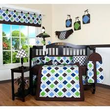 brown baby bedding sets blue brown diamond crib bedding set brown baby crib sets
