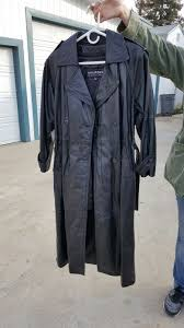 wilsons leather trench coat with insulate rn 69425