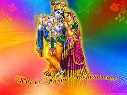 Radha Krishna Holi Wishes HD Wallpaper ...