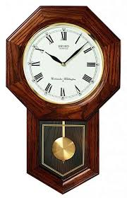 detailed image of the seiko qxh102bc schoolhouse wall clock