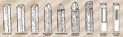 wood fence post styles