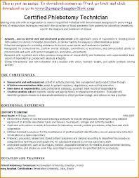 Professional Phlebotomy Resume Barca Fontanacountryinn Com