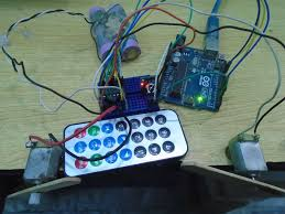 controlling dc motors using ir remote