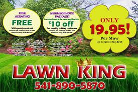 lawncare ad medford lawn mowing service lawn king medford oregon lawn care