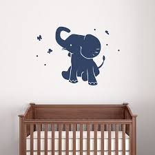 baby elephant wall decal wallums on baby elephant wall art for nursery with baby elephant wall decal babies