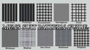 Suit Pattern New Top 48 Suit Fabrics Patterns You Should Know Mens Suit Patterns Guide