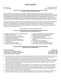 casino manager resumes templates for sales manager resumes casino manager resume