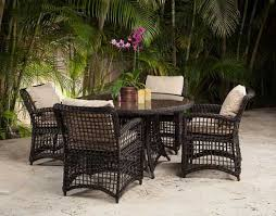 wicker outdoor dining set. Kingsly Round Wicker Outdoor Dining Set