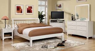 Omnus Small Space Bedroom Set W/ Corry Bed (White) Furniture Of America |  Furniture Cart