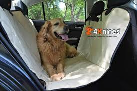 harley enjoying his 4knines dog car seat hammock