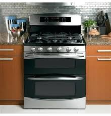 series free standing gas double oven with convection ge profile slide in range reviews36