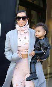 baby biker little north west is super stylish in tiny leather motorcycle jacket and pants