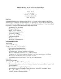 Objective Statement On Resume Resume Objective Statements Experienced Administrative Assistant