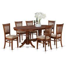 4 chair kitchen table: east west furniture vancouver  piece x oval dining table set w  chairs in espresso