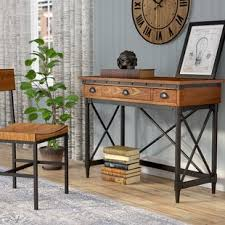 industrial style office furniture. Duke 2-Drawer Industrial Writing Desk Style Office Furniture C