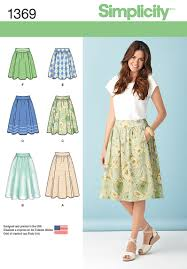 Simplicity Patterns Custom 48 Simplicity Pattern Misses Skirts In Three Lengths