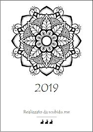 Calendario 2019 Con 12 Nuovi Mandala Da Colorare