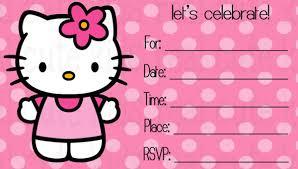 Printable Hello Kitty Invitations Personalized 19 Creative Hello Kitty Invitation Designs Jpg Psd Eps Ai