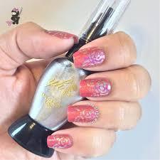 Abstract Rose Nails | The Crafty Ninja