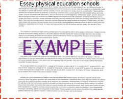 Education In Schools Essay Essay Physical Education Schools Term Paper Academic Service