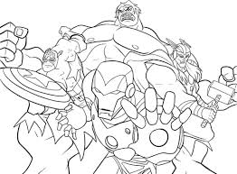 Marvel Characters Coloring Pages For Kids And For Adults