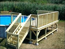 Above Ground Pool Decks Plans Deck Wonderful Pictures Of