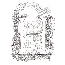 Printable Illuminated Letters Coloring Pages Free Coloring Book