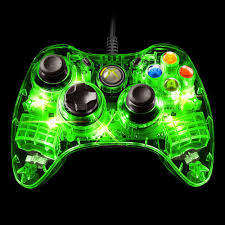 Xbox 360 4 Green Lights Pdp Afterglow Wired Controller For Xbox 360 Green Walmart Com
