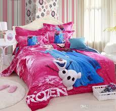 3d frozen purple princess elsa anna olaf bedding set for queen comforter decorations 6
