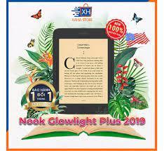 Trả góp 0%]Máy đọc sách Nook Glowlight Plus 2019 đèn vàng 7.8 inch 300ppi  8GB màu đen - tặng túi chốc sốc (Nook Glowlight Plus 2019 ereader 7.8 inch  300ppi 8GB black)