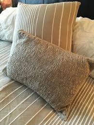 decorative pillows taupe white
