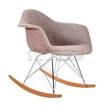 eames inspired rocking chair. Beautiful Chair Charles Eames Style Rocking Chair  Upholstered Full Fabric To Inspired A
