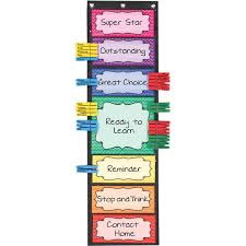 Student Behavior Chart Classroom Behavior Ez Tuck Clip N Track Pocket Chart