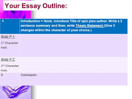 odyssey thesis paper tutorial ppt  your essay outline 1