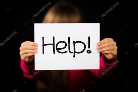 Child Holding Help Sign Stock Photo Bigandt 88235448