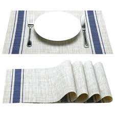 glass placemats classic glass set