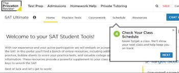 Sample College Class Schedule Test Prep Faq The Princeton Review