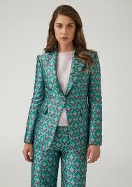 Patterned Blazer Womens Cool Women's Jackets Blazers Emporio Armani