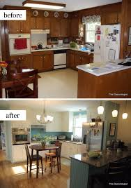 painted brown kitchen cabinets before and after. Light And Bright Kitchen After Design Intervention Painted Brown Cabinets Before