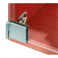 surface mounted hinge with snap closure for half overlay glass doors for furniture cabinet