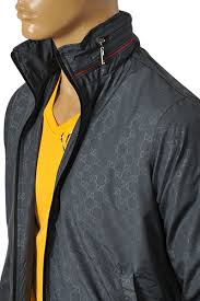 gucci zip up. mens designer clothes | gucci men\u0027s zip up jacket with removable hoodie #119 view 4 gucci r
