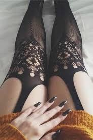<b>Women</b> Sexy <b>Open</b> Crotch Crochet Lace <b>Jacquard</b> Fishnet Tights ...