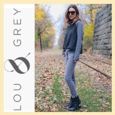 Lou And Grey Size Chart Lou Grey Houndstooth Popover Sweatshirt