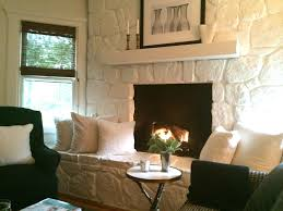 modern cottage style in connecticut painted rock fireplaceswhite stone