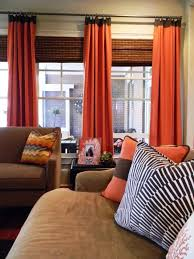 without the daring orange dry panels this room would be fairly basic grandin road color