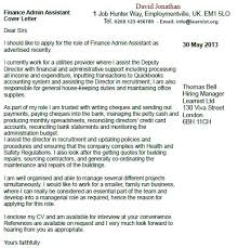 Administrative Assistant Cover Letter Template Admin Sample Finance ...